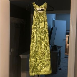 Dresses & Skirts - Lime green sequins dress